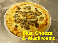 Blue Cheese and Mushrooms Pizza